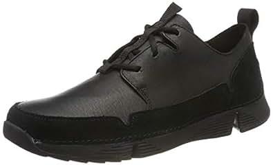 Clarks 男士 Tri Solar 运动鞋 黑色(黑色皮革) 41 EU