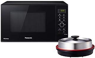 Panasonic 组合微波炉带烧烤和蒸锅/Steamer / 1000 W/披萨平底锅 / 23 L 黑色