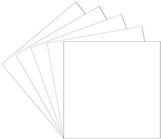 30.48 厘米 x 30.48 厘米白色永久粘合背衬乙烯基板,5 个装光面白色 Oracal 651 乙烯基可用于室内/室外标记、字母、装饰、标志、贴花、十字架窗户图形……