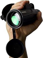 Roxant Falcon 高清晰度(单指焦点)单筒望远镜 + 手机适配器,迷你三脚架,外壳和镜头盖