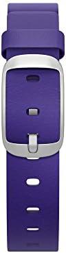 Pebble Technology Corp 智能手表替換表,用于卵石時間圓形 14 毫米 - 零售包裝60108 紫羅蘭色