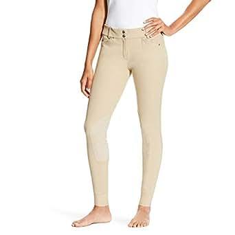 Ariat 女式 Heritage 低腰及膝补丁前拉链长裤 棕褐色 24 Long