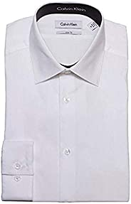 Calvin Klein 33T046 Tone/Tone Stripe 条纹修身版纯色衬衫,100%纯棉
