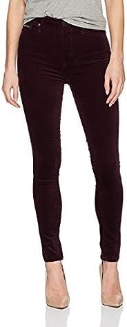 Calvin Klein Jeans 女士天鹅绒高腰及踝紧身裤
