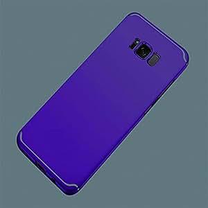 Galaxy S8 S9 Plus 手机壳带艺术线设计手机壳适用于三星 Galaxy S8 S9 Plus,红色和绿色 白色 ax416