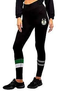 NBA 密尔沃基雄鹿队女式紧身裤周边健身运动瑜伽裤,M 码,黑色
