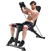 K KiNGKANG 可调节重量凳实用健身凳,适用于家庭健身房,可折叠倾斜躺椅,适用于全身锻炼