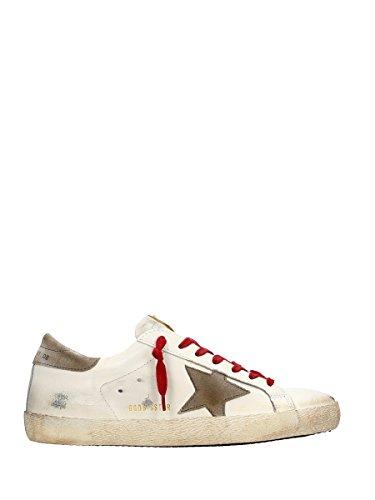 GOLDEN GOOSE GOLDEN GOOSE 男人 G28MS590A31 白色/棕色 皮革 运动鞋 / 意大利直邮【亚马逊海外卖家】