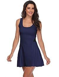 Meja 女式网球连衣裙,无袖运动连衣裙适用于高尔夫羽毛球跑步锻炼休闲女孩运动服俱乐部连衣裙