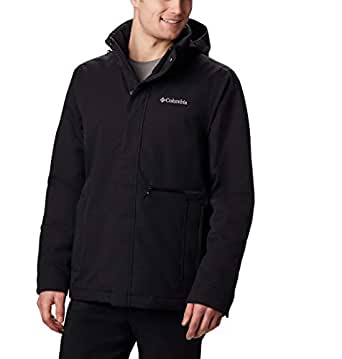 Columbia 哥伦比亚 男士防水夹克,Boundary Bay 夹克,涤纶 黑色 M