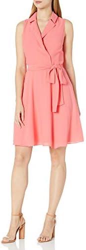 AJNX Armani Exchange 女式無袖領帶腰帶針織連衣裙