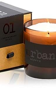 DecoCandleS Tranquility - 柠檬草和野马 - 266.89 克。 - Amanyara 度假特克斯和凯科斯签名香味 - 大豆混合蜡烛 Clear Jar, Soy Blend Wax, White Box 9 Oz. J-TRANQUILITY-9