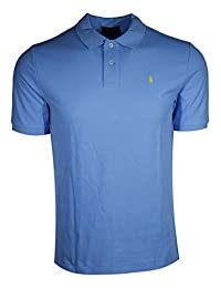 Polo Ralph Lauren 保罗拉夫劳伦男童经典修身小马标识Polo衫 Light Blue (Yellow Pony) X-Large