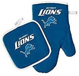 Pro Specialties Group 底特律雄狮烤箱手套和锅垫套装