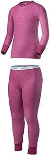 Indera 青年性能涤纶罗纹针织套装 大 粉红色 091641169997