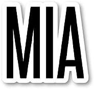MIA 迈阿密贴纸机场代码贴纸 - 笔记本电脑贴纸 - 乙烯基贴花 - 笔记本电脑、手机、平板电脑乙烯基贴花贴纸 S12176
