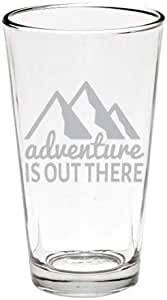 有趣的户外和湖面啤酒杯 Adventure is Out There