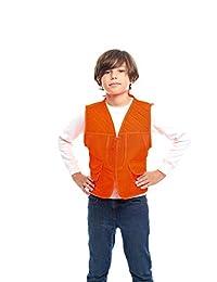TrailCrest 儿童 Blaze 橙色*前置装载狩猎背心