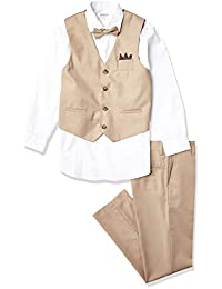 Isaac Mizrahi 男孩 4 件套纯色背心套装