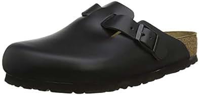 BIRKENSTOCK 勃肯 Clog 波士顿鞋 (窄型) 皮革 光滑黑色 22.5 cm