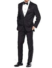 Douglas Grahame 修身 2 件套燕尾服(2 粒扣燕尾服外套和裤子)