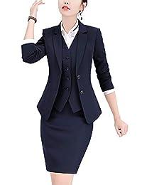 女式 there 件办公室女性条纹外套商务西装套装女式适用于工作裙和夹克