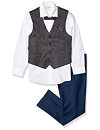 Isaac Mizrahi 男孩格子背心4件套