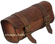 正品山羊皮复古摩托车 2 皮带扣开合工具 棕色包 快速释放扣 加强适用于车把、叉子、Sissy Bar - 25.4 厘米