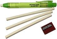 Faber-Castell 钢笔机械可伸缩橡皮擦套装,含 2 个额外笔芯 + 1 个 Faber-Castell 卷笔刀,适用于儿童学校办公室和家庭(多种颜色) *