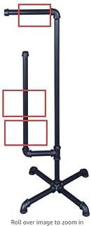 厕纸架独立立式厕纸分配器,工业铁管卫生纸架,浴室卷整理架,带木底座