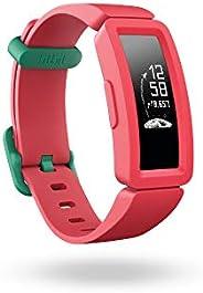 Fitbit Ace 2 活动追踪器适用于儿童,有娱乐刺激的活动追踪器,4+天电池使用时间和防水深度达50米。 Watermelon + Teal Einheitsgröße