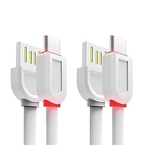 LED USB C 型电缆 3.3Ft E1,3FT,White,USB C to USB A 2.0