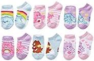 Care Bears 女童隐形袜 6 双装,袜子尺码 4-6(鞋码 7-10)