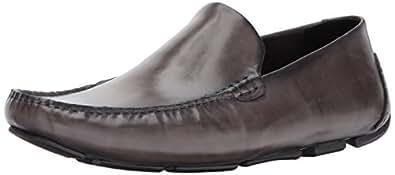 Kenneth Cole New York 男士家庭男士乐福鞋 深灰色皮革 7 M US