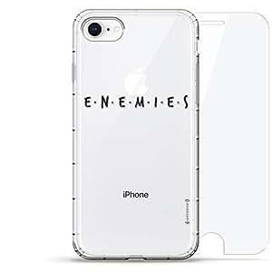 "Luxendary Air 系列 360 束,设计师款手机壳 Plus 钢化玻璃 iPhone 8/7LUX-I8AIR360-ENEMIES1""Enemies"" Title Card 透明"