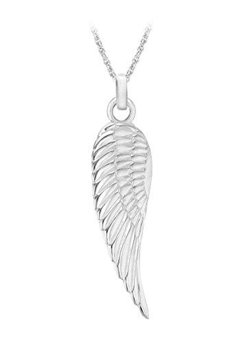 プリンスオブウェールズのシンプルな天使の羽ペンダントチェーン46 cm / 18インチ