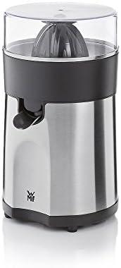 WMF Stelio 电动榨汁机,可榨柠檬和柑橘,85W,2个挤压锤,滴停设置/插入式筛网,亚光不锈钢