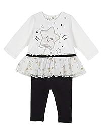 Chicco 婴儿-女孩Completino T 恤 Manica Lunga + 打底裤晚装 - 套装