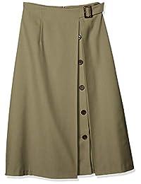 NATURAL BEAUTY BASIC 裙子 不对称纽扣喇叭裙 女士 017-0120811