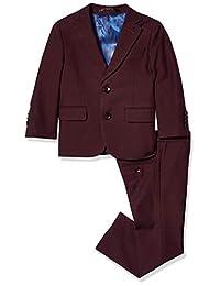 Isaac Mizrahi 男孩 2 件套修身剪裁羊毛混纺套装