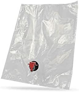 Astropaq 葡萄酒袋包装套装 [环保型酒瓶替代品] - 轻松装瓶和存放葡萄酒 - 非常适合家庭酿酒师 透明 2 x 10L