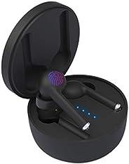 GIIKNEW 蓝牙耳机 5.0,立体声无线耳机智能触摸控制 20H 播放无线耳机带充电盒内置双麦克风适用于所有蓝牙设备
