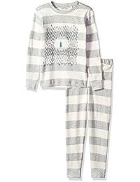 Petit Lem 儿童小假日中性款 2 件套睡衣套装,舒适、可爱和舒适