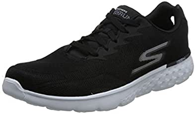 Skechers 斯凯奇 SKECHERS GO RUN 400系列 男 休闲跑步鞋 轻质跑鞋 55292-BKW 黑色/白色 44.5 (US 11)