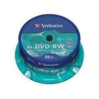 Verbatim 43639 4.7GB DVD-RW - 主轴 25 个装