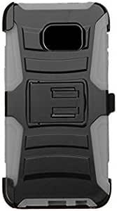 Asmyna Phone Case for SAMSUNG Galaxy S6 Edge Plus - Retail Packaging 黑色/灰色