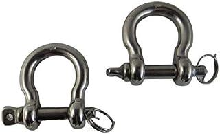 2 件不锈钢 316 防关闭蝴蝶结钩带锁环 5/16 英寸(8 毫米)海洋级