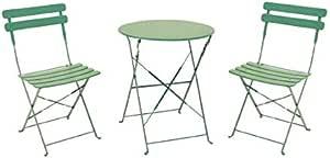 Galileo Casa 2422102 Bistrot 桌子和两把椅子,*