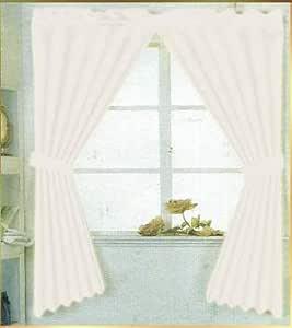 奢华家居时尚人造丝浴室窗帘 * 涤纶,防水 147.32 cm X 137.16 cm 白色