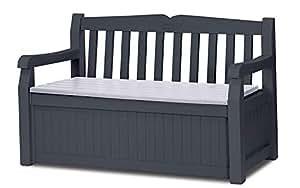 Keter 花园长椅 Eden 带凳箱 256 升 灰色